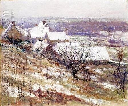 Winter Landscape by Theodore Robinson - Reproduction Oil Painting