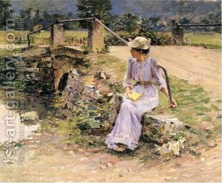 La Debacle by Theodore Robinson - Reproduction Oil Painting