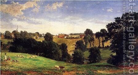 View of Stifford by Jasper Francis Cropsey - Reproduction Oil Painting