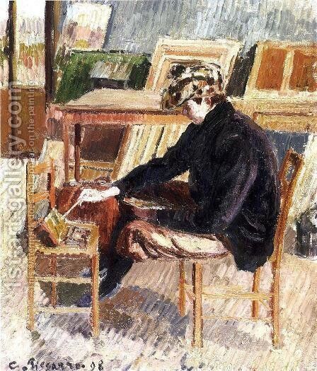 Paul Painting, Study by Camille Pissarro - Reproduction Oil Painting