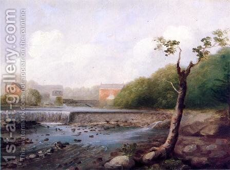 Kinney Town Dam, Seymour, Connecticut by George Henry Durrie - Reproduction Oil Painting
