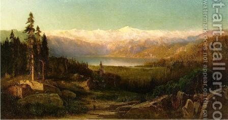 Rocky Mountains by Thomas Hill - Reproduction Oil Painting