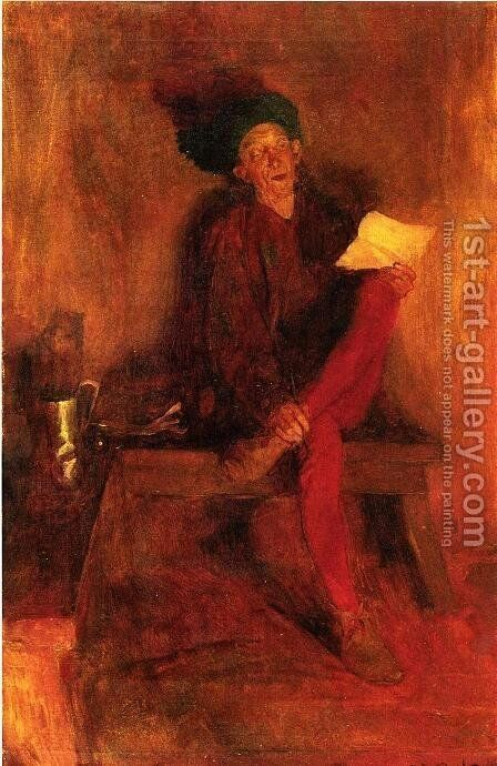 Villon - The Singer Fate Fasioned to Her Liking by Howard Pyle - Reproduction Oil Painting