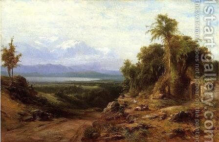 Italian Landscape by James McDougal Hart - Reproduction Oil Painting