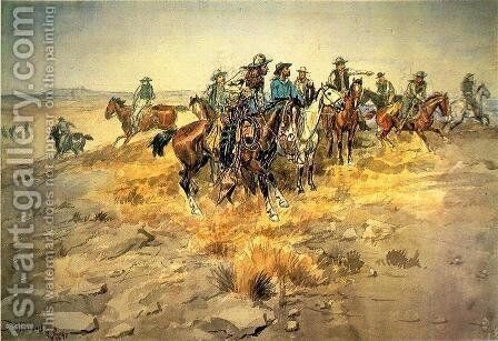 The Alarm Bell by Charles Marion Russell - Reproduction Oil Painting