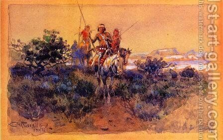 Return of the Navajos by Charles Marion Russell - Reproduction Oil Painting