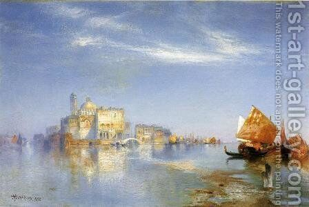 View of Venice II by Thomas Moran - Reproduction Oil Painting