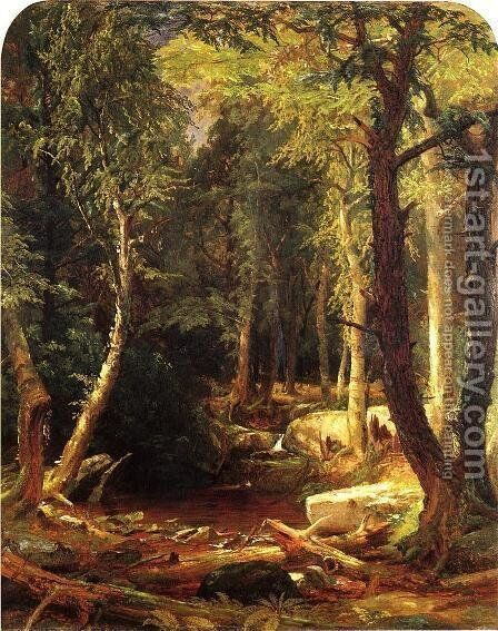 Pool in the Woods by Jasper Francis Cropsey - Reproduction Oil Painting