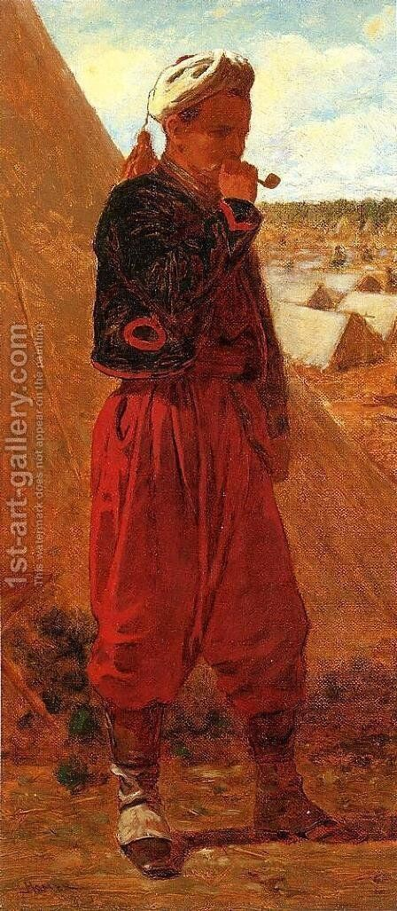 Zouave Jacob by Henry Roderick Newman - Reproduction Oil Painting