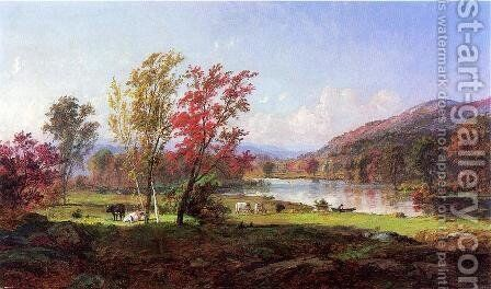 On the Saw Mill River by Jasper Francis Cropsey - Reproduction Oil Painting