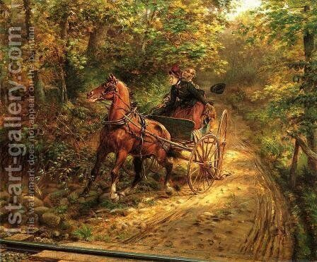 A Moment of Peril by Edward Lamson Henry - Reproduction Oil Painting