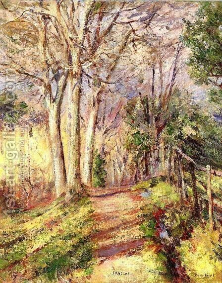 Path in Frascati by Theodore Robinson - Reproduction Oil Painting