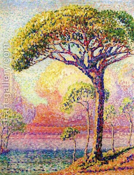 A Pine Tree by Henri Edmond Cross - Reproduction Oil Painting
