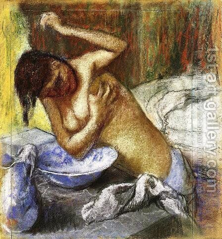 Woman Sponging Her Chest by Edgar Degas - Reproduction Oil Painting