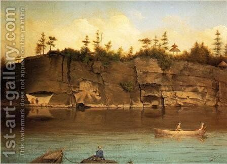 Outing at Lake Mohonk by James Hope - Reproduction Oil Painting