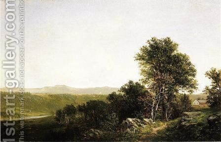 A Lush Summer Landscape by David Johnson - Reproduction Oil Painting