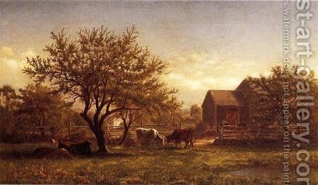 Noon in the Pasture by Charles Hernandez - Reproduction Oil Painting