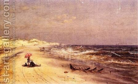 An Afternoon at the Beach by Edward Lamson Henry - Reproduction Oil Painting