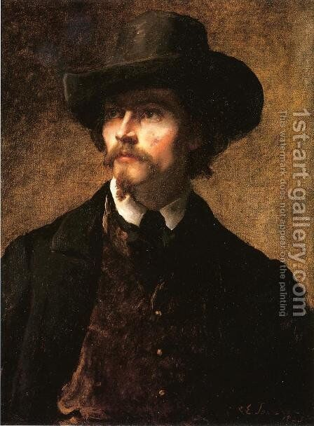 Man with a Hat by Eastman Johnson - Reproduction Oil Painting