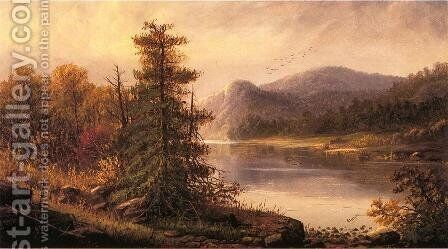 Along the Delaware River by Alexander Charles Stuart - Reproduction Oil Painting