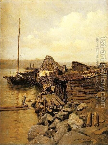 Rockport by Burr H. Nicholls - Reproduction Oil Painting