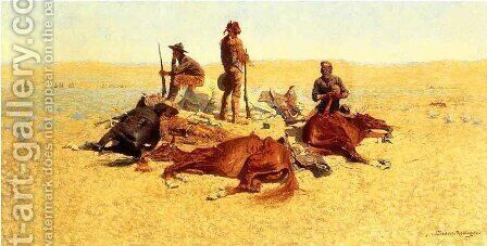 The Last Lull in the Fight by Frederic Remington - Reproduction Oil Painting