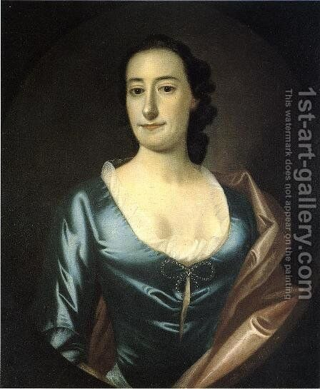 Portrait of Elizabeth Prioleau Roupell by Jeremiah Theus - Reproduction Oil Painting