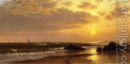Seascape with Sunset by Alfred Thompson Bricher - Reproduction Oil Painting