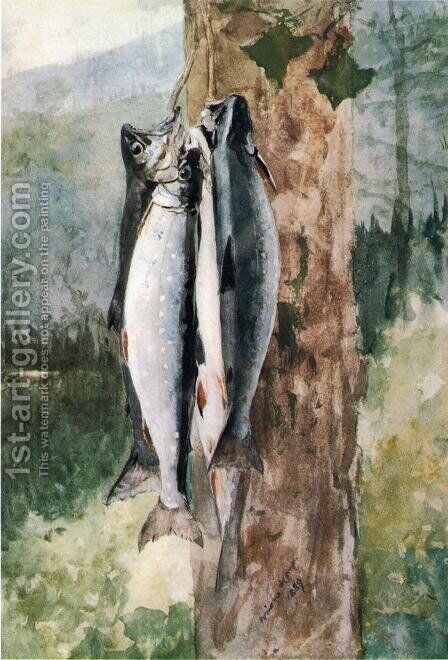 Adirondack Catch by Winslow Homer - Reproduction Oil Painting