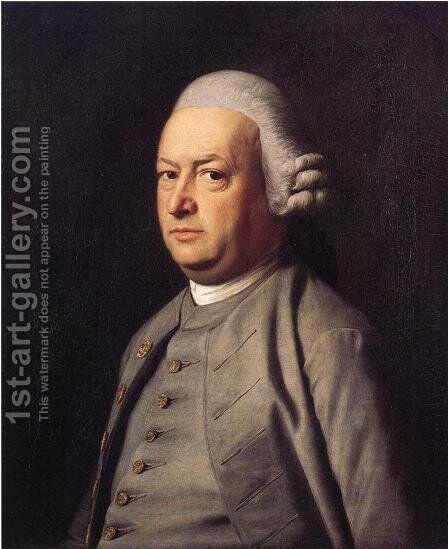 Portrait of  Thomas Flucker 2 by John Singleton Copley - Reproduction Oil Painting