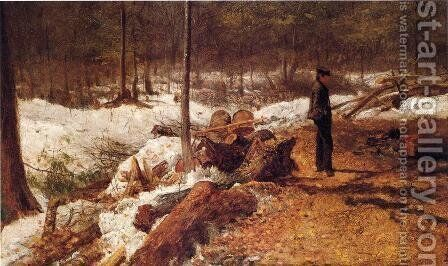 A Boy in the Maine Woods by Eastman Johnson - Reproduction Oil Painting