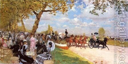 Return from the Races by Giuseppe de Nittis - Reproduction Oil Painting