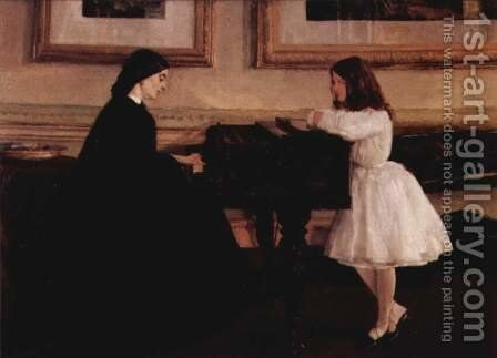 At the Piano by James Abbott McNeill Whistler - Reproduction Oil Painting