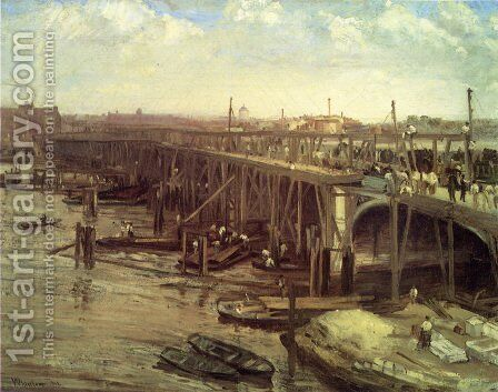 The Last of Old Westminster 2 by James Abbott McNeill Whistler - Reproduction Oil Painting