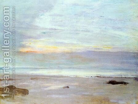 Crepuscule in Opal: Trouville by James Abbott McNeill Whistler - Reproduction Oil Painting