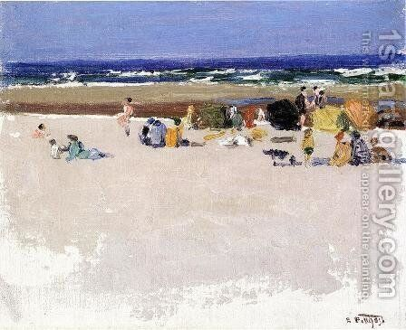 On the Beach I by Edward Henry Potthast - Reproduction Oil Painting