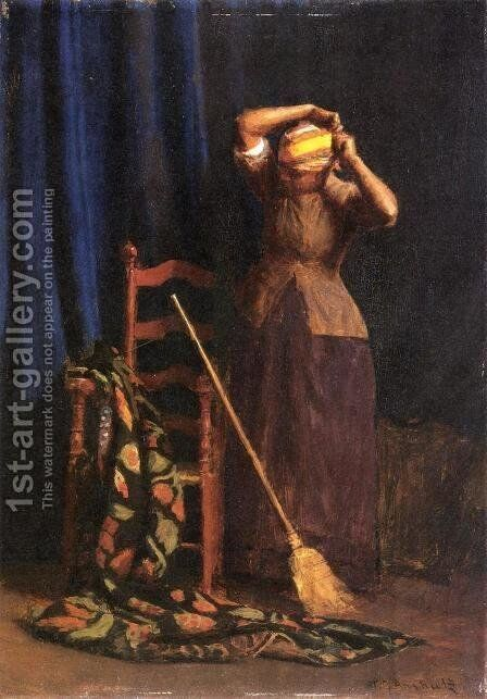 The Chore by Thomas Anshutz - Reproduction Oil Painting