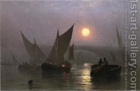 Battersea Bridge, London by Charles Henry Gifford - Reproduction Oil Painting