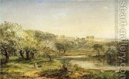 Spring, Chenango Valley by Jasper Francis Cropsey - Reproduction Oil Painting
