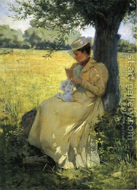 Under the Willow by Herbert Denman - Reproduction Oil Painting