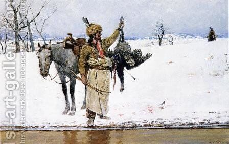 Wild Turkey by Henry Farny - Reproduction Oil Painting