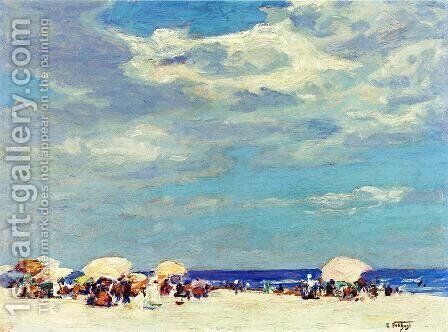 Beach Scene II by Edward Henry Potthast - Reproduction Oil Painting