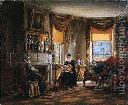 The Sitting Room by Edward Lamson Henry - Reproduction Oil Painting