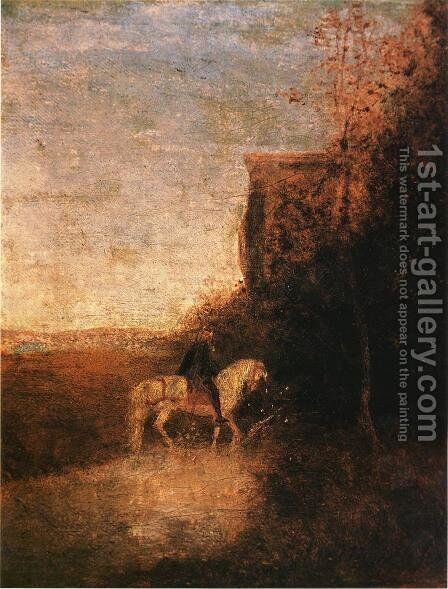 Childe Harold's Pilgrimage by Albert Pinkham Ryder - Reproduction Oil Painting