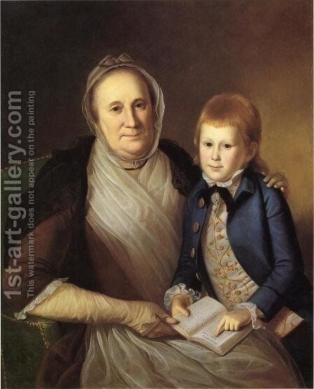 Mrs. James Smith and Grandson by Charles Willson Peale - Reproduction Oil Painting
