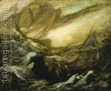 The Flying Dutchman by Albert Pinkham Ryder - Reproduction Oil Painting