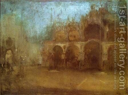 Nocturne: Blue and Gold - St Mark's, Venice by James Abbott McNeill Whistler - Reproduction Oil Painting