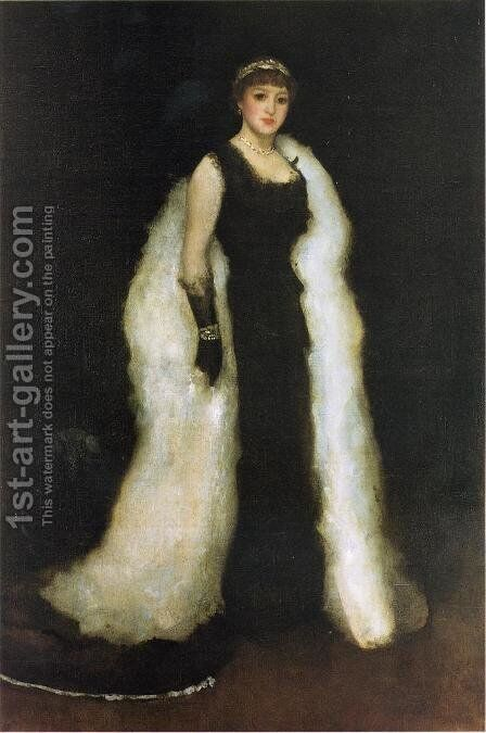 Arrangement in Black, No.5: Lady Meux by James Abbott McNeill Whistler - Reproduction Oil Painting