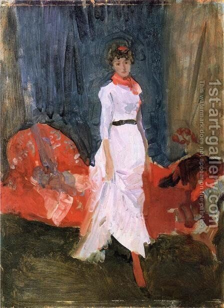 Arrangement in Pink, Red and Purple by James Abbott McNeill Whistler - Reproduction Oil Painting