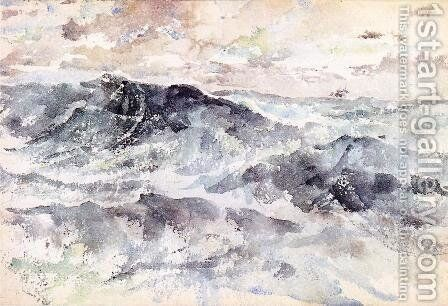 Arrangement in Blue and Silver - The Great Sea by James Abbott McNeill Whistler - Reproduction Oil Painting